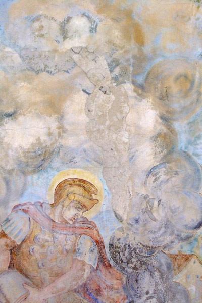 Baglyasalja freskó